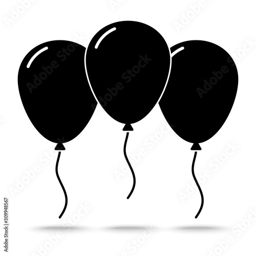 wektor ikona balonów