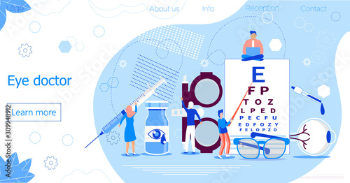 Cuadros en Lienzo Eye doctor concept for health care banner