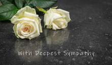 Sympathy Photo Card With Two W...