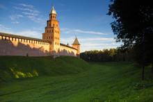 Kremlin Wall With Green Field,...