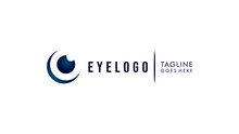 Abstract Eye Logo. Flat Vector Logo Design Template Element