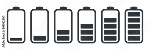 Fotomural Battery charge indicator icons, vector graphics