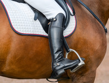 Jockey Riding Boot In The Stir...