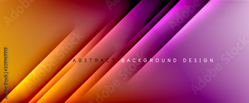 Fotografia  Trendy simple fluid color gradient abstract background with dynamic straight shadow line effect