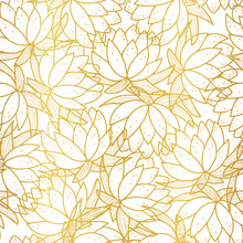Seamless Pattern With Golden O...