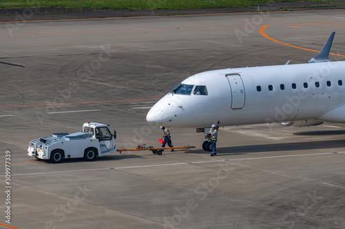 Photo プッシュバックされる旅客機