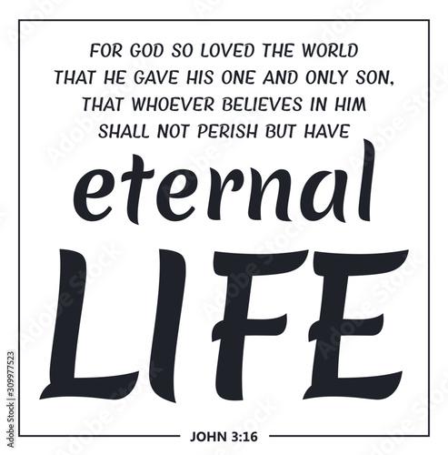 Canvastavla eternal life
