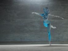 Woman In Dance Pose
