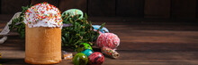Easter Cake And Easter Eggs, T...