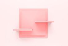 Modern Pastel Pink Shelf Displ...
