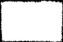 Simple Black Frame Silhouette, Vector Illustration