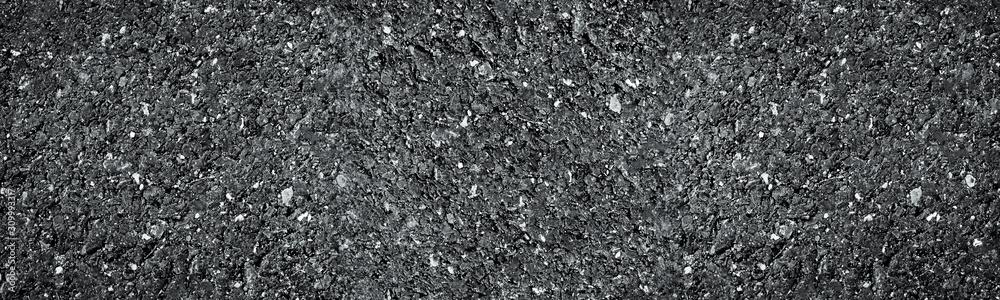 Fototapeta black asphalt texture. asphalt road. stone asphalt texture background black granite gravel.