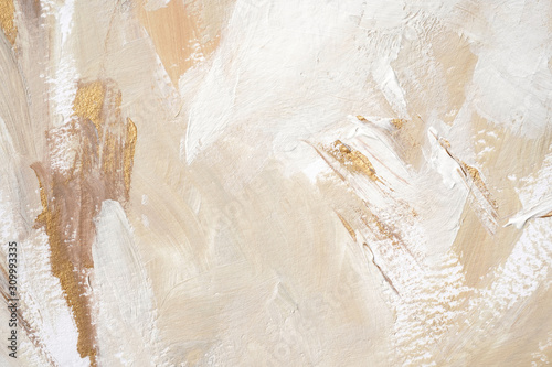 Fotografie, Obraz Hand painted abstract trendy and festive background.
