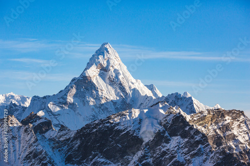 Photo Ama Dablam view from Kala Patar Mount. Nepal