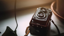Closeup Of Vintage Analogue Camera