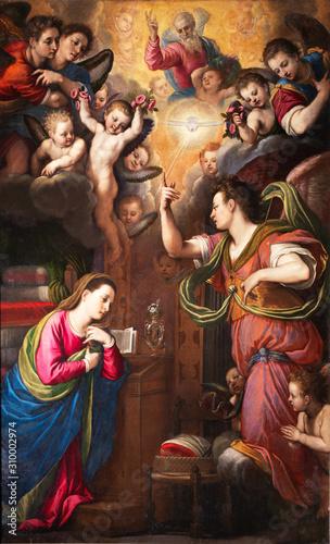 Obraz na plátně Dipinto di Domenico Cresti il Passignano, Annunciazione, conservato in Chiesa Nu