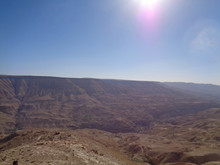 The Rock In Jordan With Blue Sky