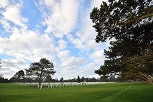 Scenery Of A Cemetery For Soldiers Who Died During The Second World War In Normandy