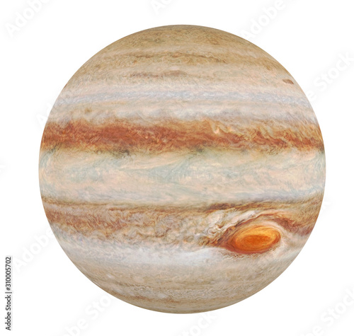 Planet Jupiter Isolated Canvas Print