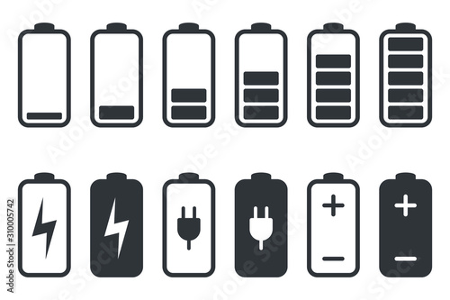Fotografie, Tablou Battery charging icon