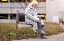 Senior Woman With Knee Pain