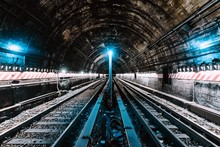 Underground Tunnel And The Railway In New York City, United States
