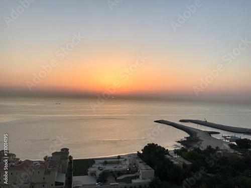 Sunrise Over Persian Gulf Wallpaper Mural