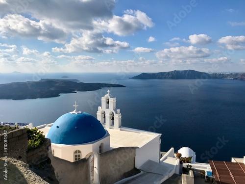 Fototapety, obrazy: Church in Santorini