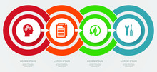 Business, Education, Technology And Green Energy Diagram, Flat Design Vector Infographic Template For Web Presentation, 4 Options