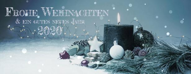 Weihnachtskarte 2020 - Weihnachten Hintergrund Banner - Frohe Weihnachten & ein gutes neues Jahr  2020