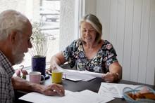 Senior Couple Doing Paperwork