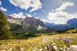 Südtiroler Alpen - Blick auf die Puez-Gruppe mit dem Mont de Stevia im Naturpark Puez Geisler