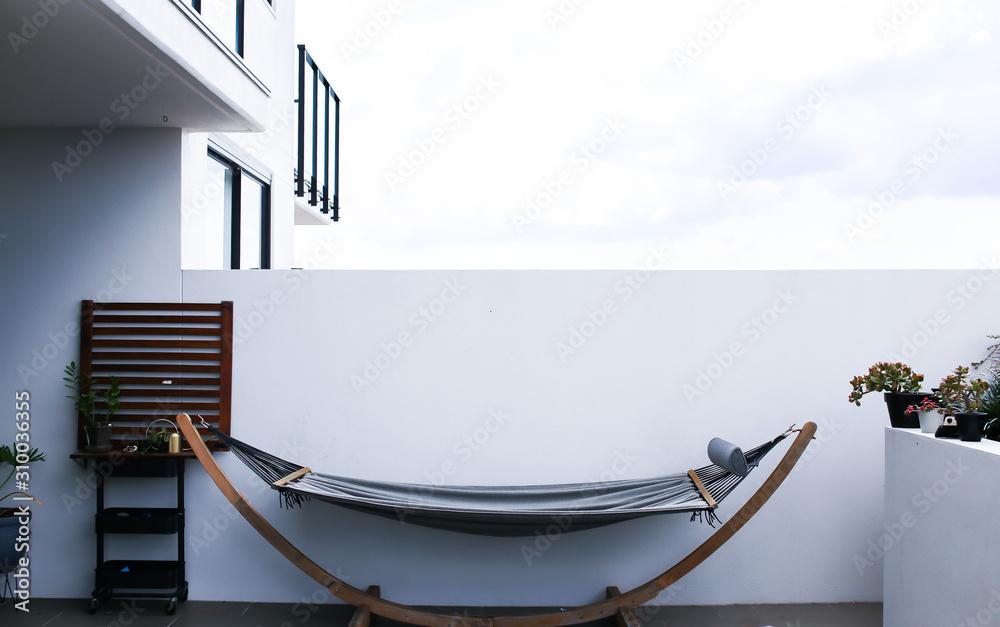 Lazy hammock architectural image