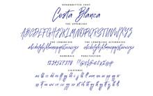 Handwritten Script Font Vector...