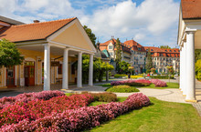 Slovakia, Piestany, Spa Piestany, Exterior Of Napoleon Bath Hotel Thermia Palace
