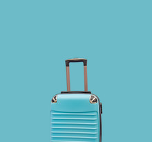 Sea Green Travelling Suitcase Luggage And Travel Concept With Copy Space