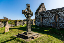 Scottish Old Cross In A Cemetery