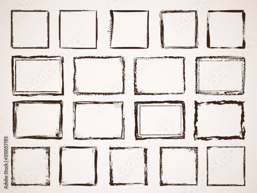 Grunge borders Canvas Print