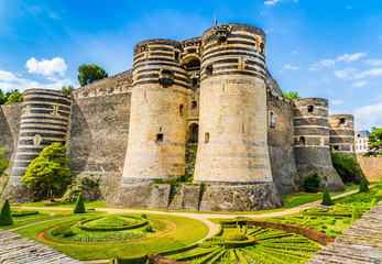 The medieval castle of Angers, France