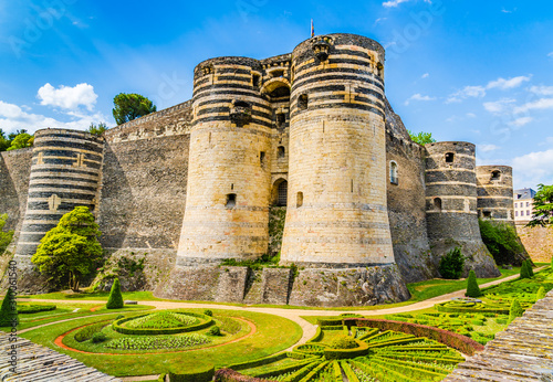 The medieval castle of Angers, France Wallpaper Mural