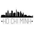 Ho Chi Minh Vietnam. City Skyline. Silhouette City. Design Vector. Famous Monuments.