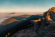 canvas print picture - Sonnenaufgang im Nebelmeer