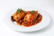 Stuffed Squid With Tomato Sauc...
