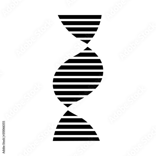 Right-handed DNA helix glyph icon Canvas Print