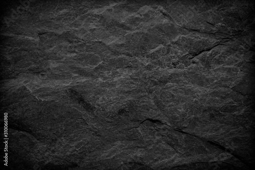 Fototapeta Dark grey black slate background or texture