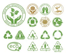 Ecology Icons Set. Symbols Of ...