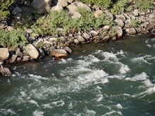 Close Up Of A Strong Current In A River