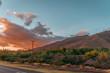 sunset over road in the desert hawai maui sundown