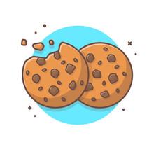 Double Cookies Vector Illustra...