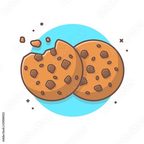 Photo Double Cookies Vector Illustration